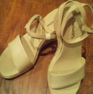 Chadwick's Beige Canvas Espadrilles   8 US  NEW!